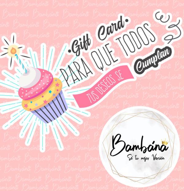 gift card Bambana Spa de uñas, Keratinas, Cejas y pestañas Ibague